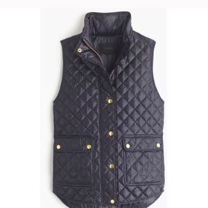 J. Crew Shiny Quilted Field Puffer Vest Size XS